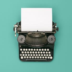 thestoryworkers Logo Schreibmaschine