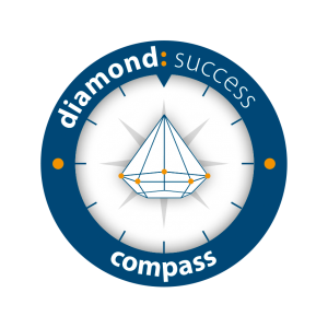 Logo diamond success concept