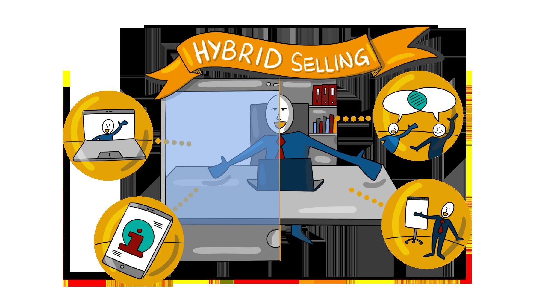 Hybrid Selling Illustration